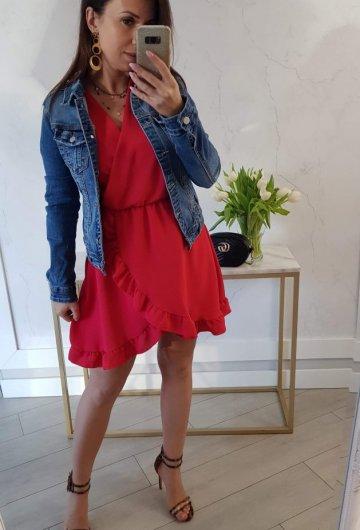 Sukienka Bella Czerwona 4