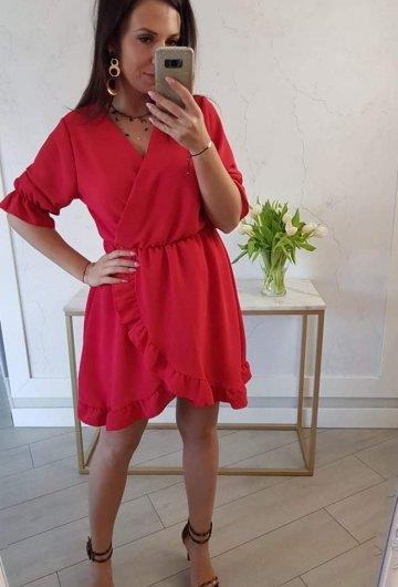 Sukienka Bella Czerwona 5