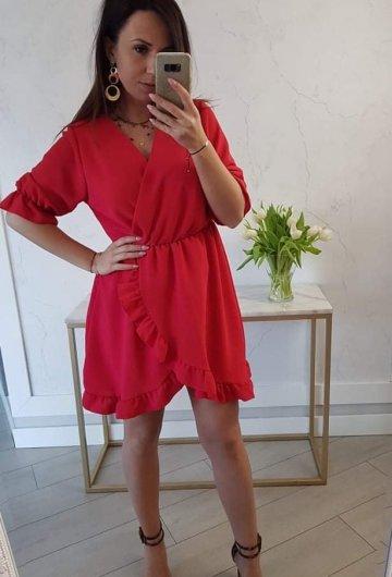 Sukienka Bella Czerwona 6