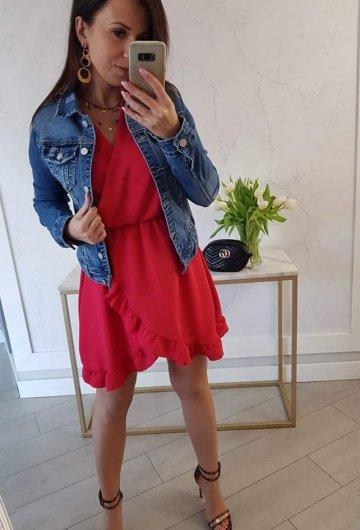 Sukienka Bella Czerwona 7