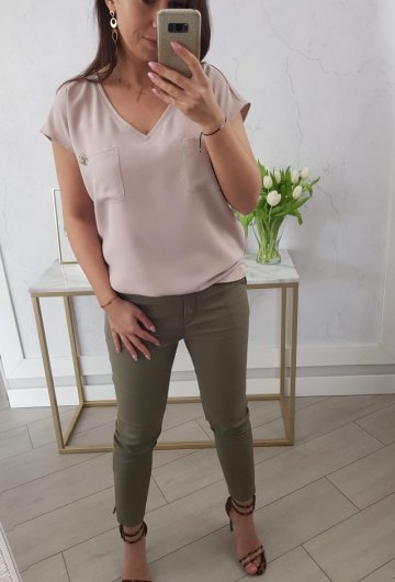 Spodnie Materiałowe Khaki 5